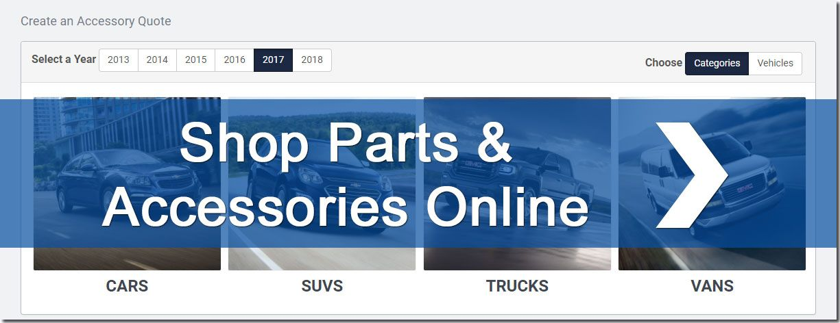 Shop genuine GM parts and accessories in Georgetown Ontario
