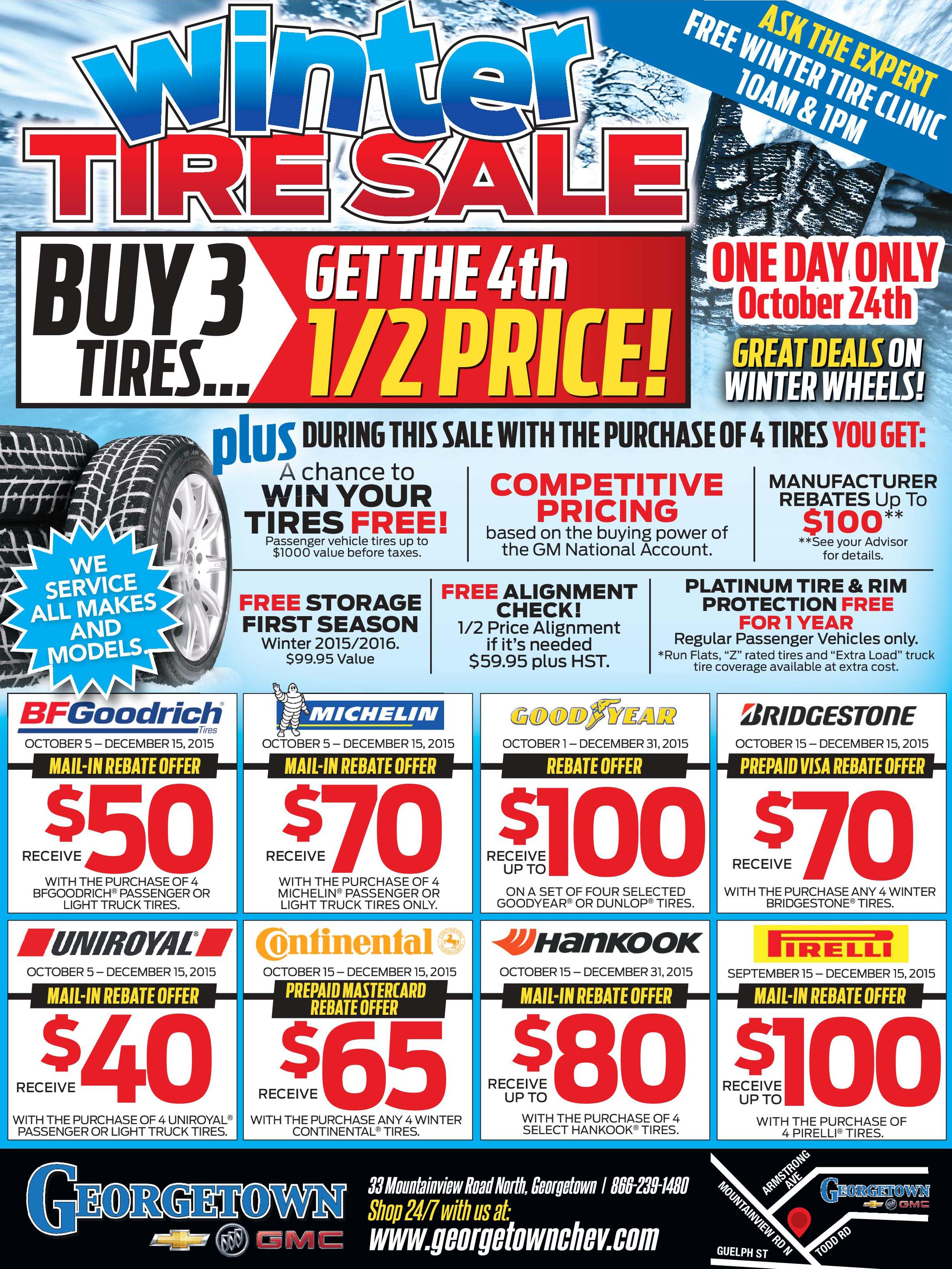Georgetown October Tire Flyer
