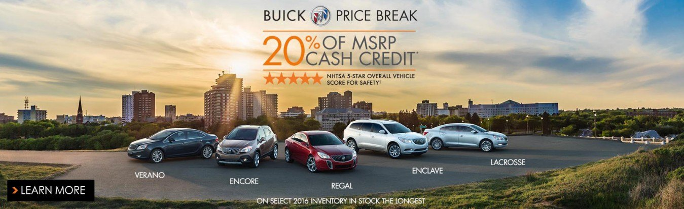 Get 20% of the MSRP cash credit on select new Buick cars and SUVs from Georgetown Chevrolet