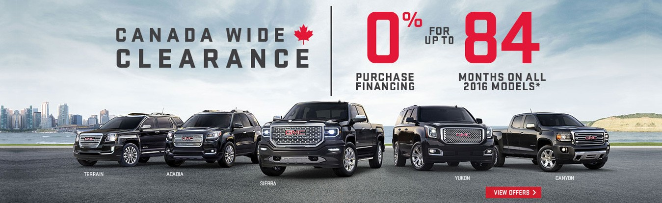Get great lease and finance offers on new GMC cars, trucks and SUVs in Georgetown Ontario from Georgetown Chevrolet Buick GMC