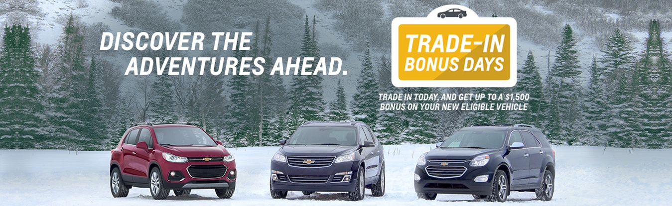 Chevrolet trade in Bonus Days at Georgetown Chevrolet Buick GMC