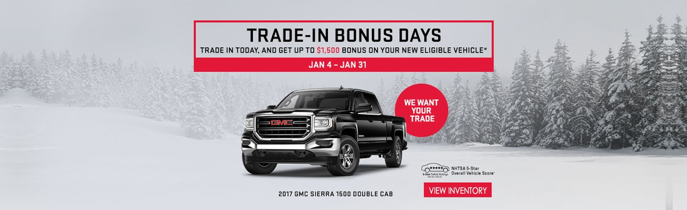 GMC trade in Bonus Days at Georgetown Chevrolet Buick GMC
