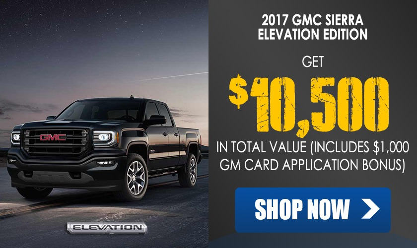 Get thousands off a 2017 GMC Sierra Elevation Edition pickup truck in Georgetown