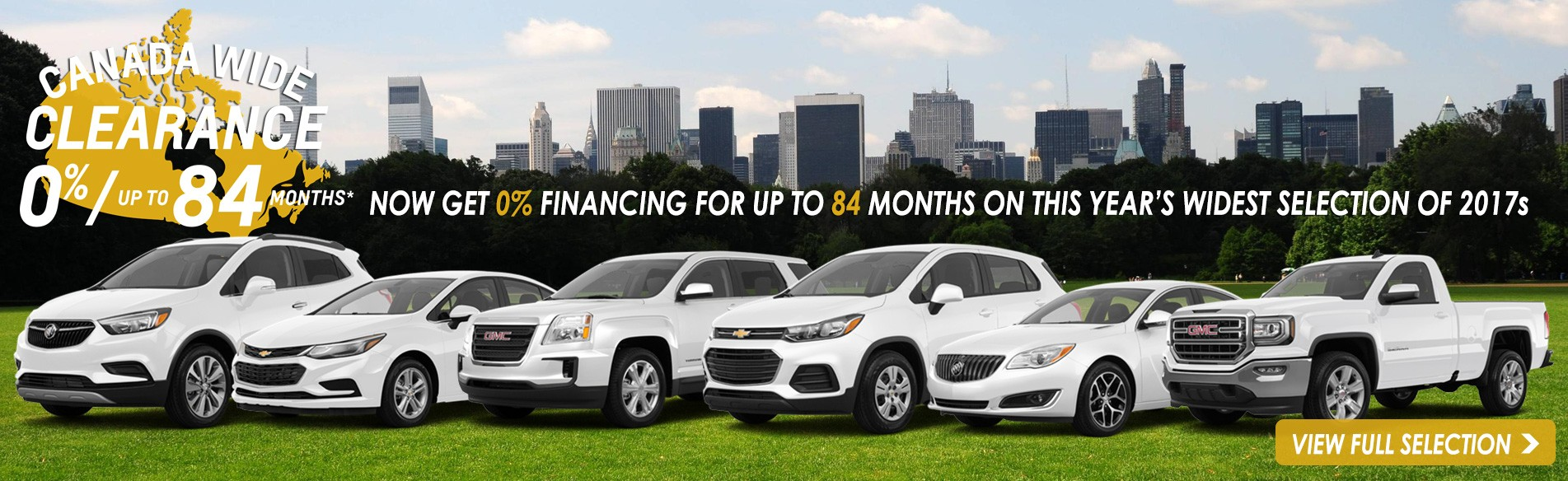 Now get 0% financing for up to 84 months on this year's widest selection of 2017 Chevrolet, GMC and Buick cars, trucks and SUVs in Georgetown Ontario