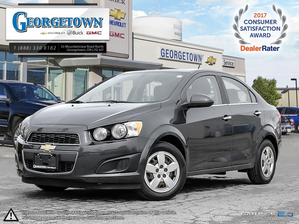 Used 2014 Chevrolet Sonic Sedan LT in Georgetown Ontario at Used Car Clearance prices from Georgetown Chevrolet