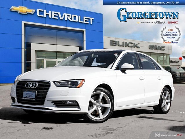 Used 2016 Audi A3 1.8T Komfort Sedan in Georgetown Ontario at Used Car Clearance prices from Georgetown Chevrolet