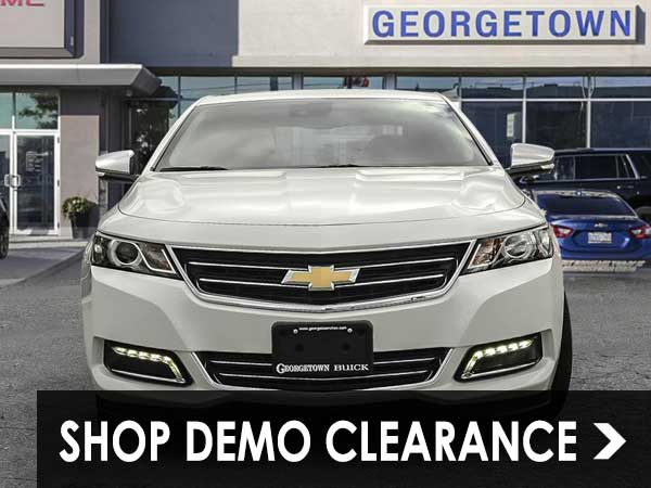 Shop demo clearance cars, trucks and SUVs in Georgetown Ontario at Georgetown Chevrolet Buick GMC