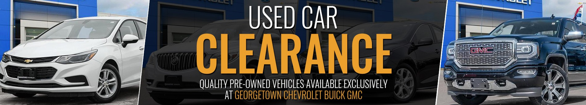 Outstanding Used Cars, Trucks and SUVs in Georgetown Ontario at Clearance prices from the Pre-Owned Vehicles department at Georgetown Chevrolet Buick GMC