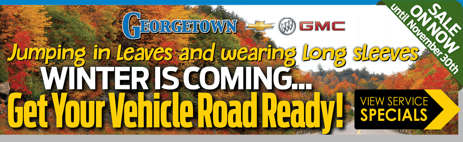 Enjoy great fall Service Specials in Georgetown Ontario from Georgetown Chevrolet Buick GMC