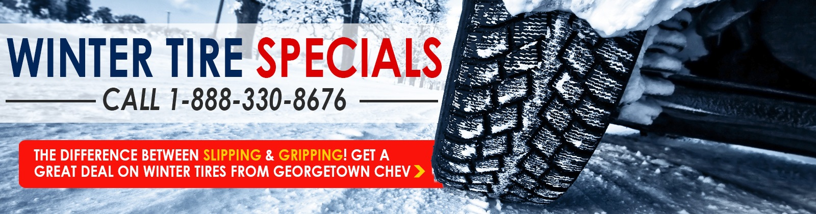 Great deals on Winter Tires from Georgetown Chevrolet in Georgetown