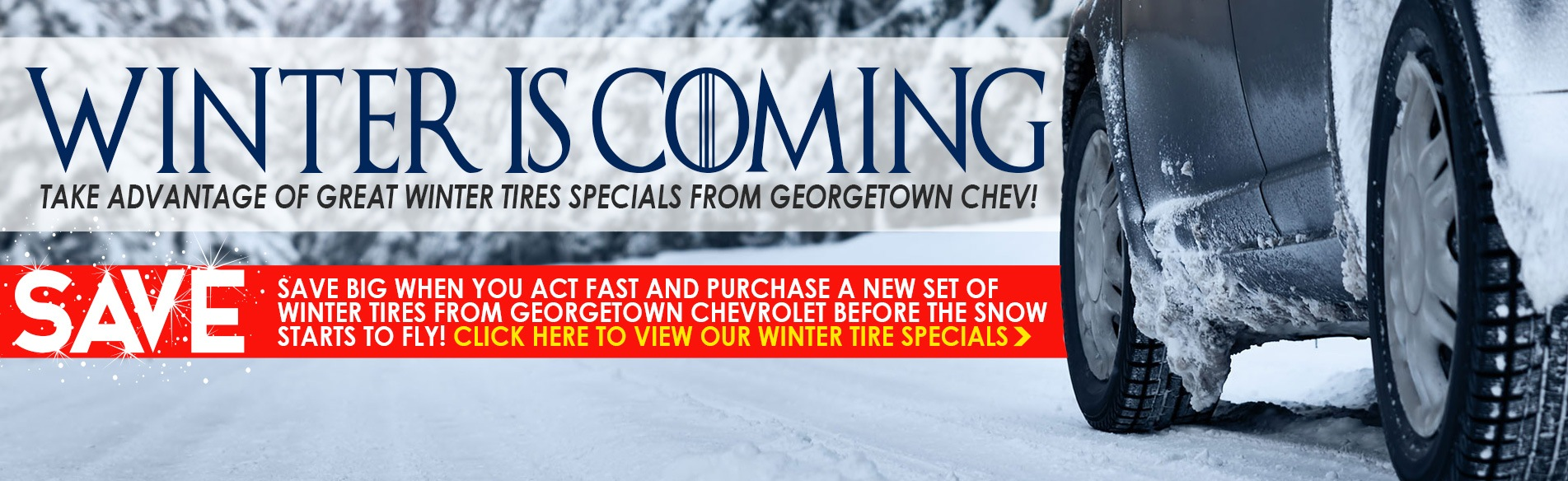 Great deals on Chevrolet, Buick, GMC Winter Tires in Georgetown Ontario from Georgetown Chevrolet