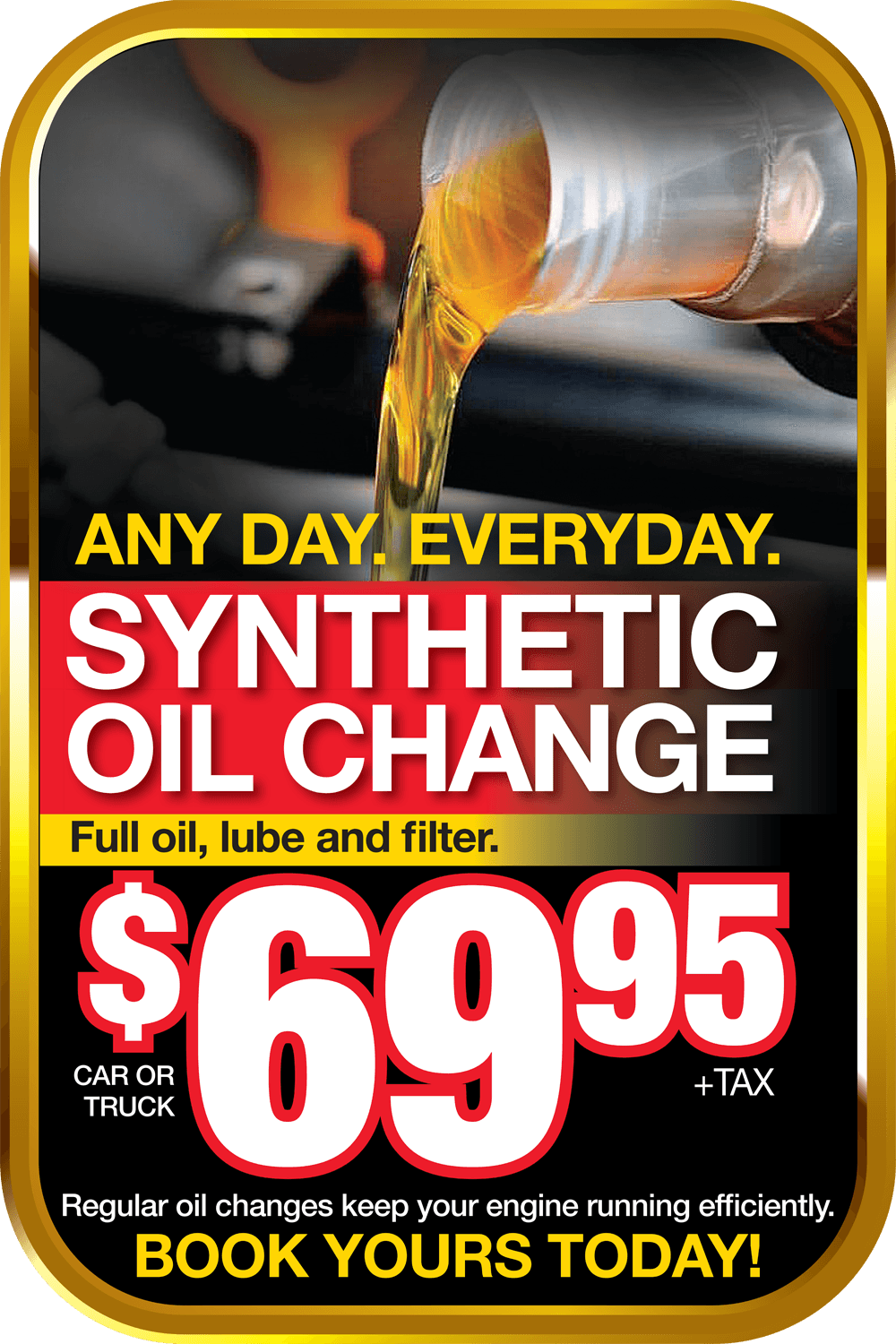 $69.95 Synthetic Oil Change - Georgetown Chevrolet Buick GMC