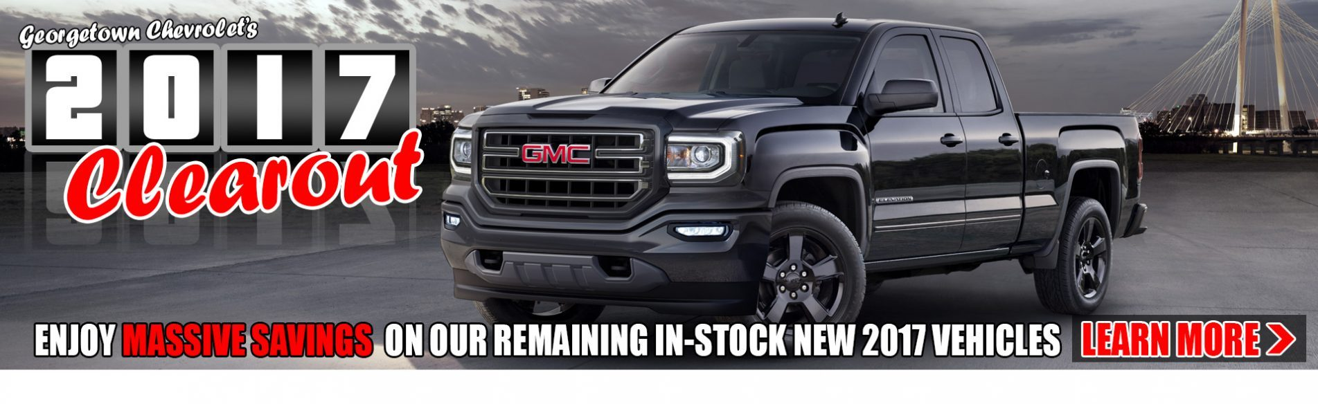 Save big on remaining 2017 Chevrolet, Buick and GMC vehicles from Georgetown Chevrolet