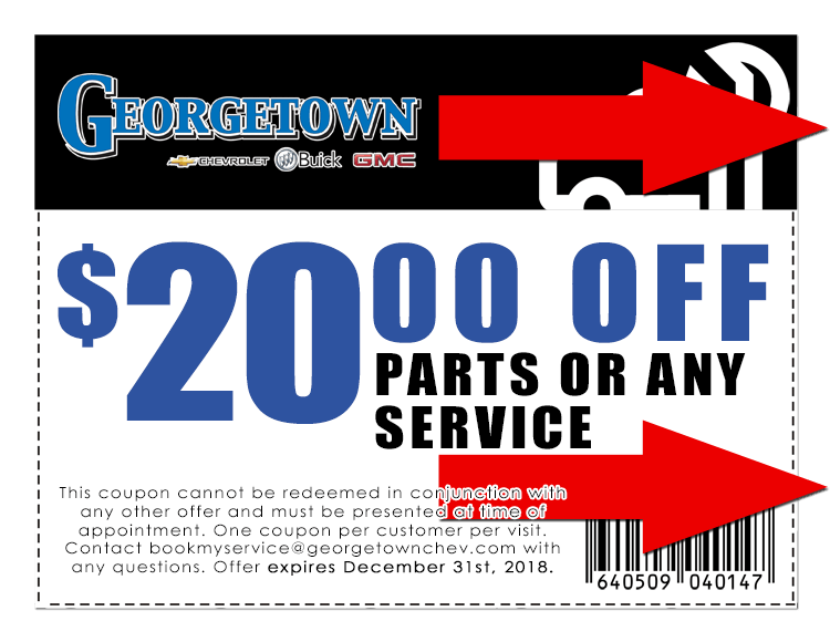 $20 off any parts or service from Georgetown Chevrolet in London