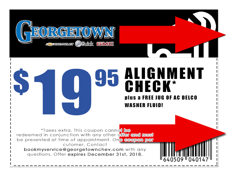 Alignment Check with FREE AC Delco Washer Fluid