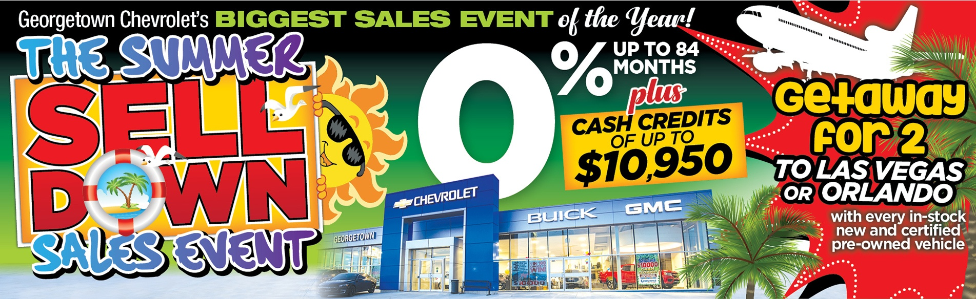 Georgetown Chevrolet Summer Selldown Event!